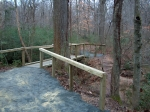 Bridge installation and trail repair along the Chattahoochee